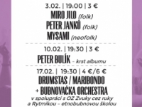 FEBRUÁROVÉ MUSIC CLUBY